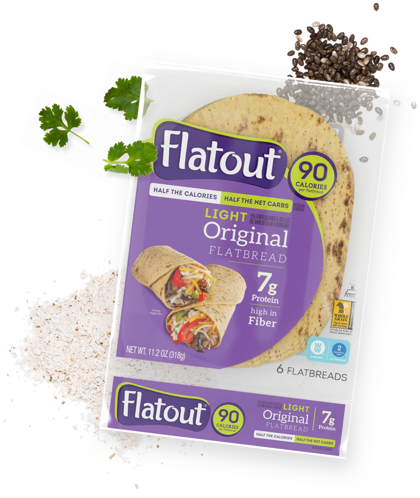Flatout 90 calories light original flatbread